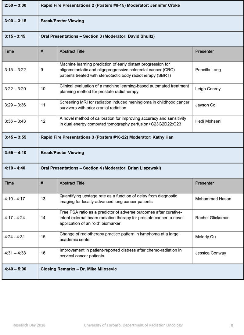 Research Day Schedule page 2