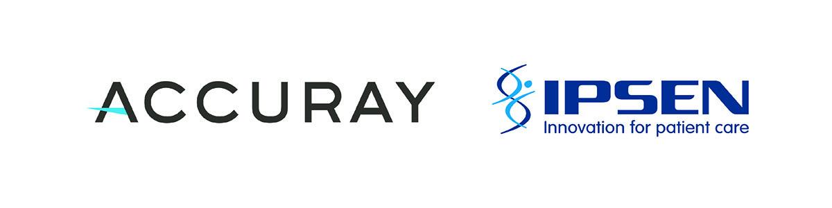 ACCURAY logo and IPSEN logo